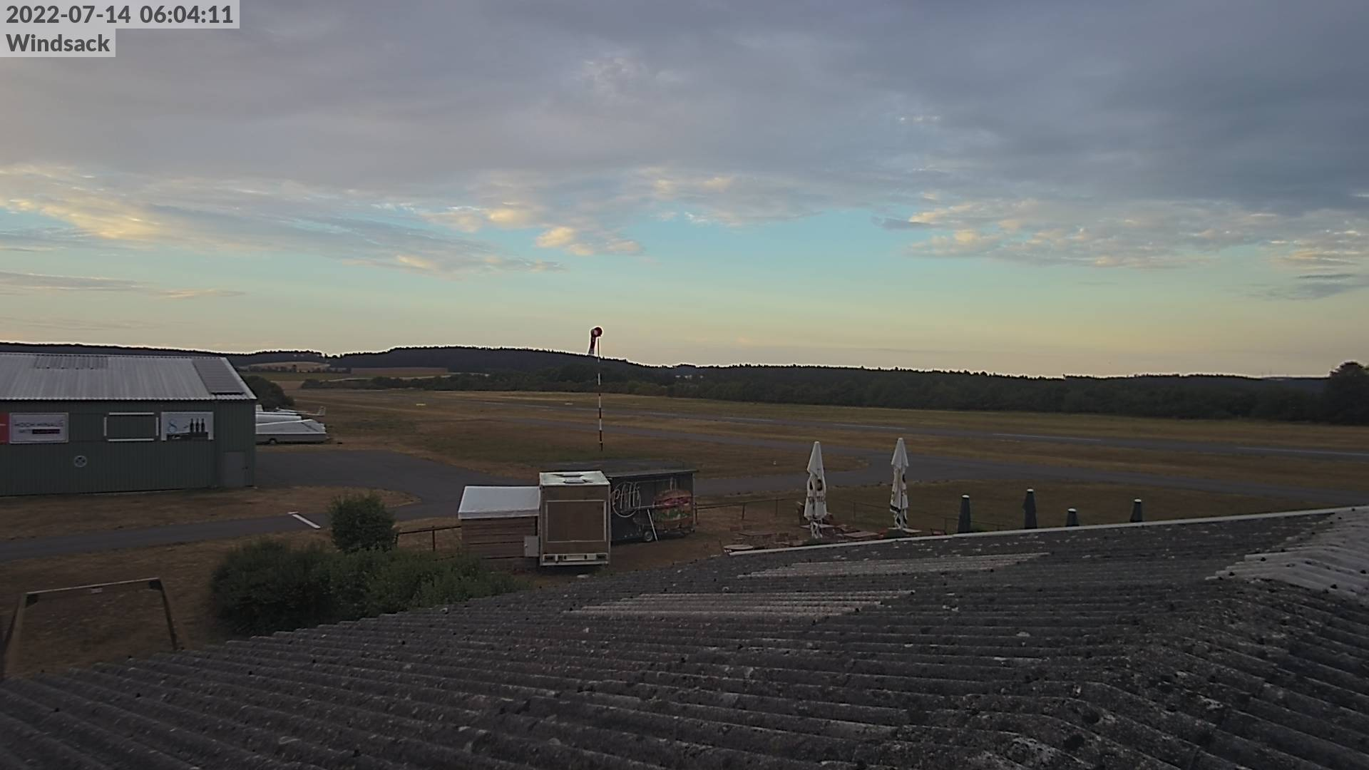 Webcam, Blick in Richtung Windsack